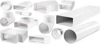 пластиковая вентиляция, пластиковые воздуховоды