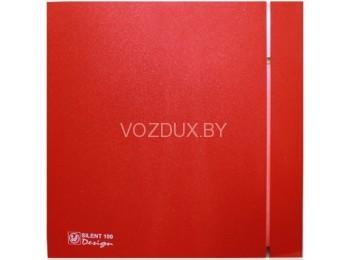 Вентилятор вытяжной Soler&Palau SILENT-100 CZ RED DESIGN - 4C