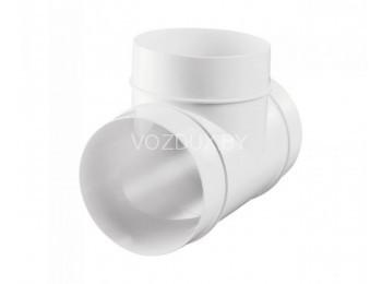 Тройник пластиковый для воздуховодов 100 мм (131)