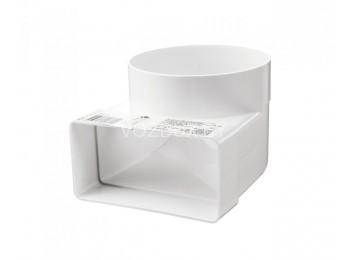 Соединительное колено плоских-круглых воздуховодов 60*204/100 мм (821)