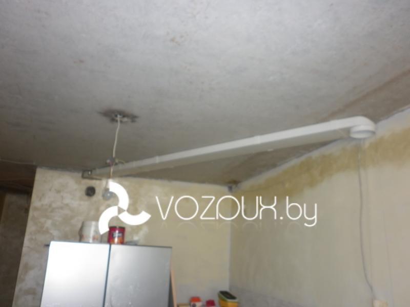монтаж вентиляции под вытяжку